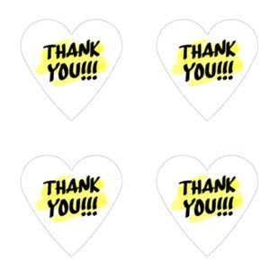 Other - Thank You Stickers 60 Heart Labels 1 1/2 Labels
